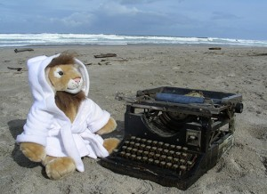 Androcles chilling at the beach